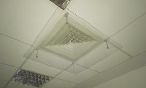 aer conditionat birou, aer tavan casetat, protectie anemostat, protectie aer conditionat